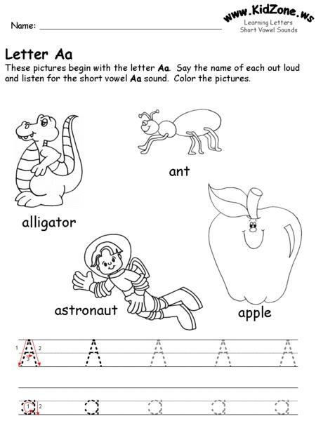 letter aa worksheet for pre k kindergarten lesson planet. Black Bedroom Furniture Sets. Home Design Ideas