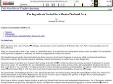 The Ingredients Needed for a Musical National Park Lesson Plan