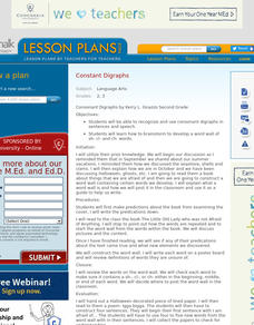 Consonant Digraphs Lesson Plan