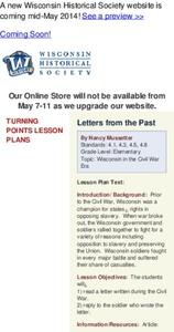 Letter From the Past Lesson Plan