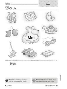 Letter M Worksheet