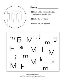 Letter Mm Worksheet