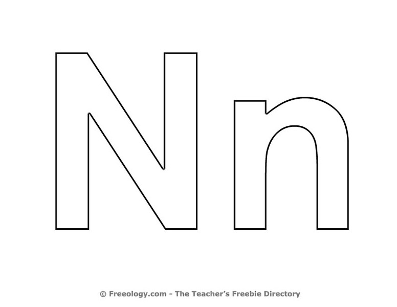 Letter N Coloring Sheet Lesson Plan