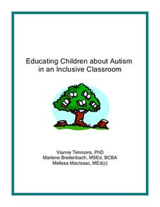 Educating Children about Autism in an Inclusive Classroom Professional Document