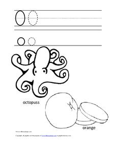Letter Oo Trace and Color Worksheet
