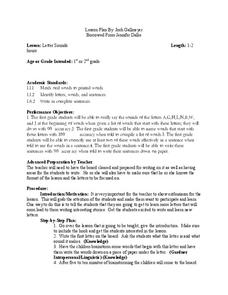 Letter Sounds Lesson Plan