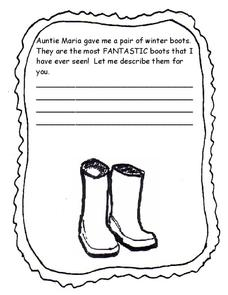Letter to Auntie Maria Worksheet