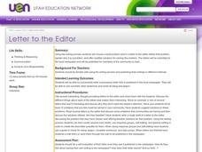 Letter to the Editor Lesson Plan