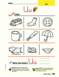 Letter U Coloring Sheet Worksheet