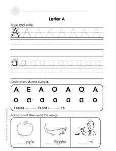 Letters A and B Worksheet
