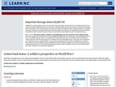 Letters Back Home: A soldier's perspective on World War I Lesson Plan