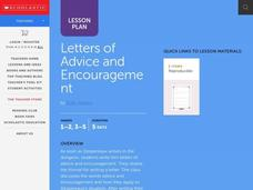 Letters of Advice and Encouragement Lesson Plan