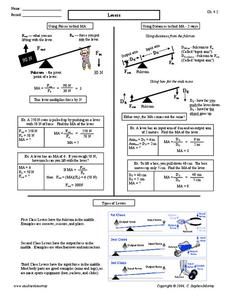 Levers Worksheet
