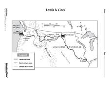 Lewis & Clark Map Worksheet