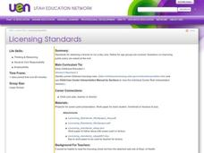 Licensing Standards Lesson Plan