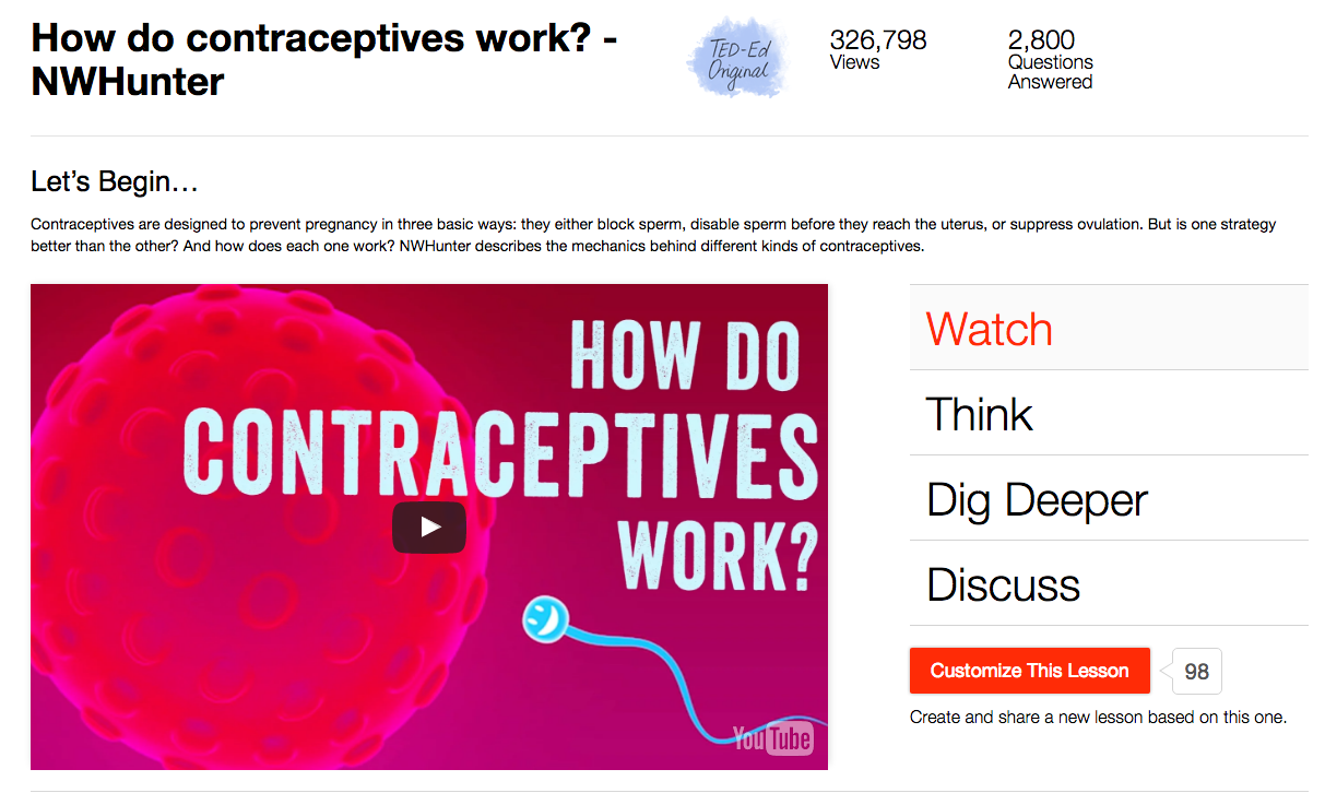 How Do Contraceptives Work? Video