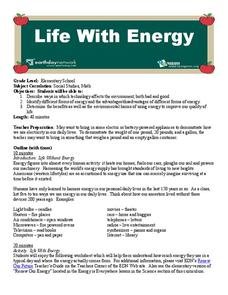 Life with Energy Lesson Plan