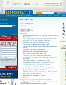 Wilbur's First Day Lesson Plan