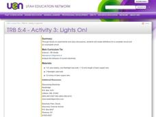 Lights On! Lesson Plan