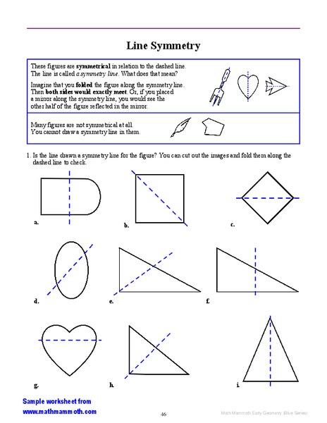 line symmetry worksheet for 3rd 5th grade lesson planet. Black Bedroom Furniture Sets. Home Design Ideas