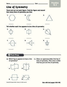 Line of Symmetry Worksheet