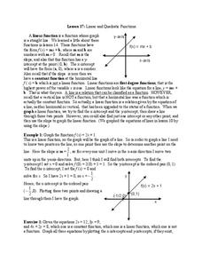 linear and quadratic functions worksheet for 11th grade lesson planet. Black Bedroom Furniture Sets. Home Design Ideas