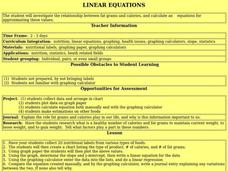 Linear Equations Lesson Plan