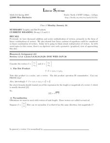 Linear Systems Worksheet