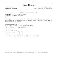 Linear Systems:  Permutations and Transposes Worksheet