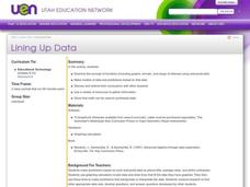 Lining Up Data Lesson Plan