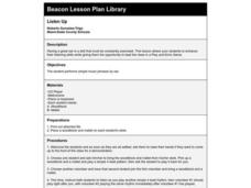 Listen Up Lesson Plan