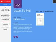 Listen To Me! Lesson Plan