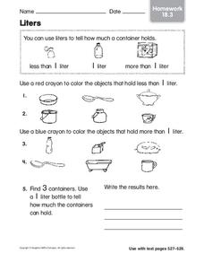 Liters Worksheet
