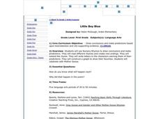 Little Boy Blue Lesson Plan