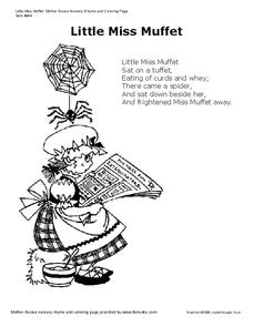 Little Miss Muffet Worksheet