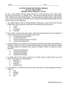 Little House in the Big Woods Worksheet