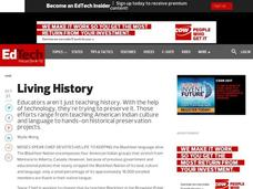 Living History Lesson Plan