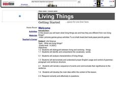 Living Things Lesson Plan