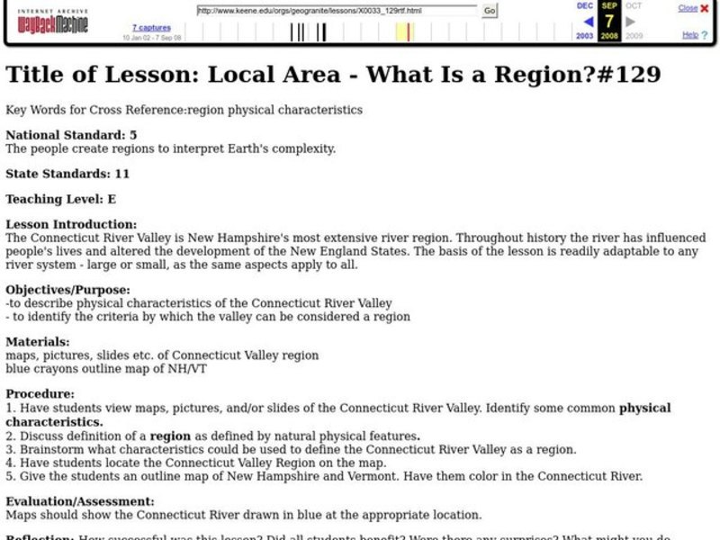 Local Area - What Is a Region? Lesson Plan