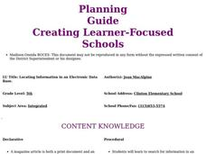 Locating Information in an Electronic Data Base Lesson Plan