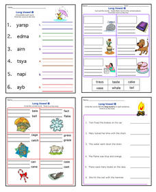 Long A Worksheet