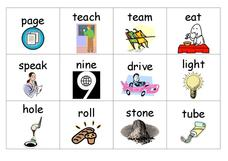 Long vowel words Worksheet