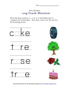 Long Vowel Worksheet Worksheet