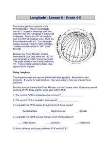Longitude Worksheet