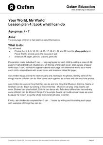 Look What I Can Do Lesson Plan