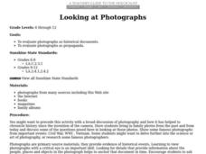 Looking at Photographs Lesson Plan