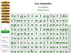 Los Animales Worksheet