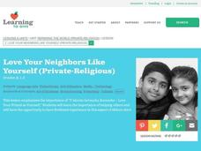Love Your Neighbors Like Yourself Lesson Plan
