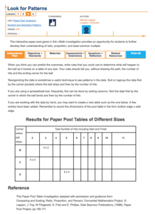 Look for Patterns Lesson Plan