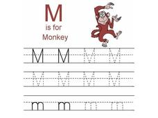 M is for Monkey Worksheet